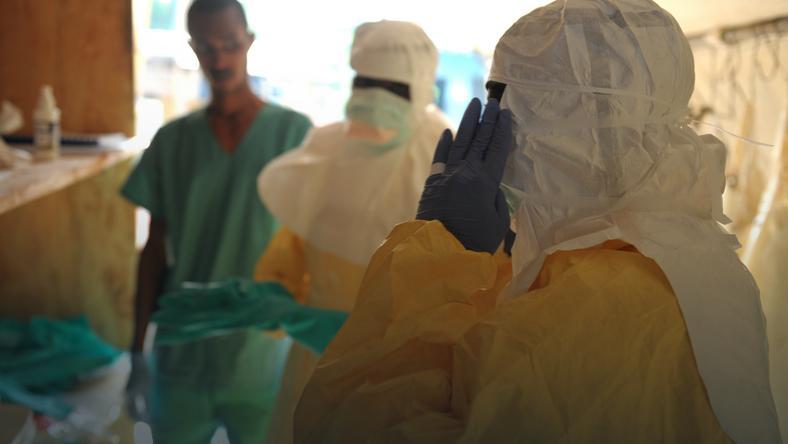 Pracownicy medyczni w Gwinei