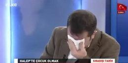 Dziennikarz nie wytrzymał na wizji. Pokazali zdjęcia z wojny w Syrii