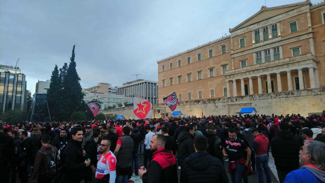 Okupljanje navijača u Atini