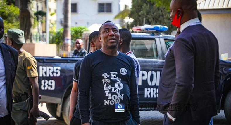 Police say Sowore was not shot at Unity Fountain. [ChannelsTV]