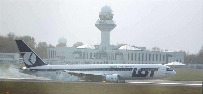 Sablewska była na lotnisku podczas awaryjnego lądowania