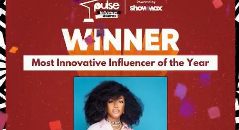 Kie Kie took home the Most Innovative Influencer of The Year award