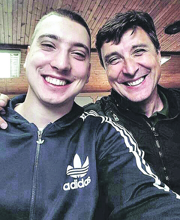 Goran Mileusnić sa sinom Milošem
