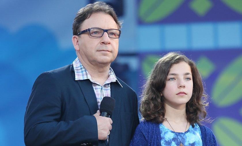 Zbigniew Zamachowski z córką Bronią