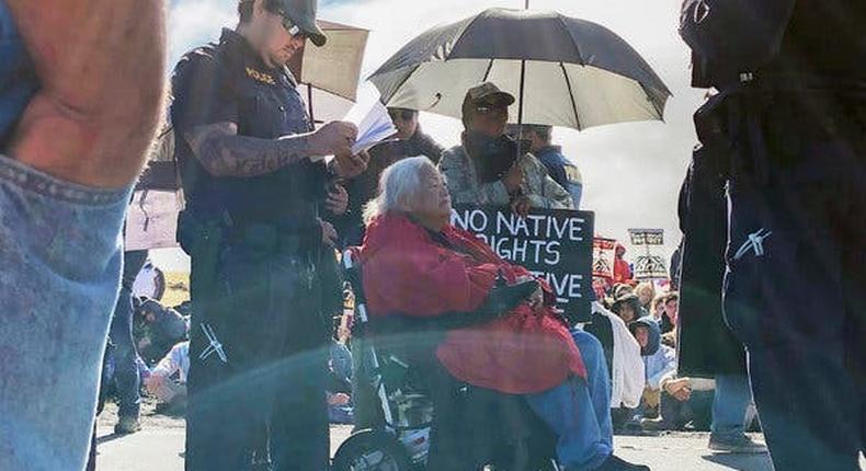 Hawaiian elders arrested trying to block telescope construction