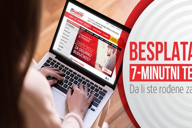 Dame, rešite besplatan 7-minutni test i saznajte da li vas čeka sjajna budućnost u IT-ju