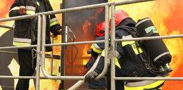 Pożar hali w Markach