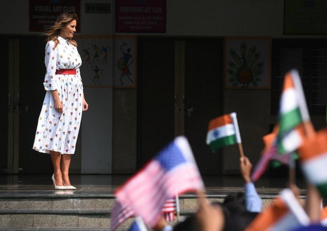 Melanija Tramp u školi u Indiji