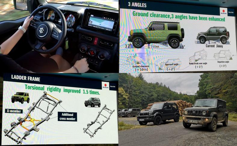 Wnętrze dorównuje wyglądowi nadwozia – jest skromne i podporządkowane użyteczności. Tworzywa odporne na zadrapania łatwo da się wyczyścić. Zegary w sześciokątnych szczelnych puszkach nawiązują do Samuraia – są odporne na pył i zawsze podświetlone, dzięki temu nie tracą na czytelności np. trakcie jazdy przez leśne odstępy kiedy samochód przemyka między cieniem i pełnym słońcem. Jak przystało na samochód stworzony do roboty uchwyty, pokrętła, przyciski i dźwignie są na tyle duże by korzystać z nich w rękawicach