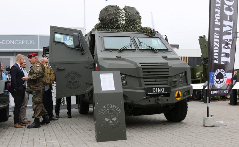 Dino 519 4X4, czyli opancerzony lekki taktyczny pojazd wielozadaniowy, zadebiutował w Kielcach w 2017 roku