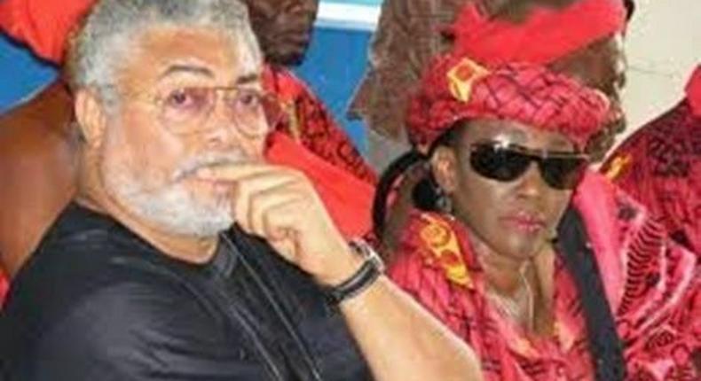 Nana Konadu and Husband, Jerry Rawlings
