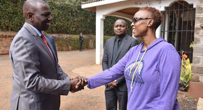 DP William Ruto condoling together with the family of the late Captain Mario
