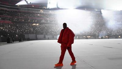 Kanye West has moved into a sports stadium in Atlanta while he finishes his next album