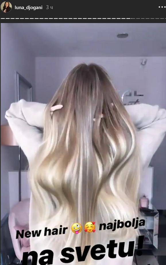 Luna pokazala novu boju kose