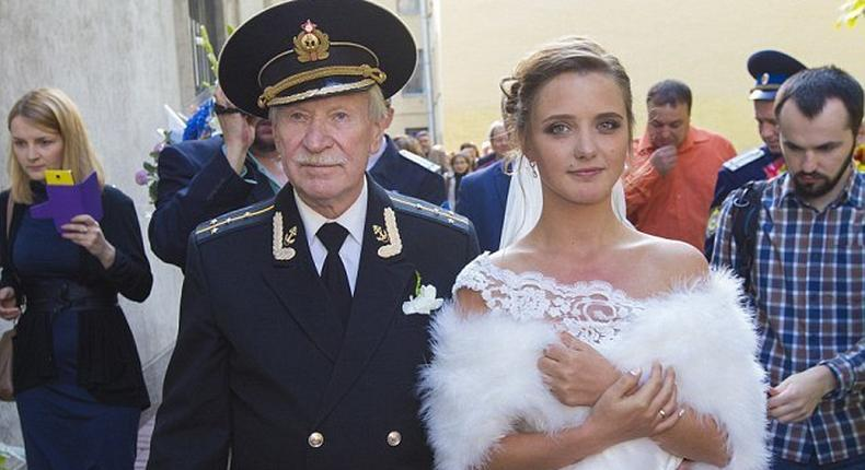 Legendary Russian actor Ivan Krasko married his 24-year-old fiancee Natalia Shevel