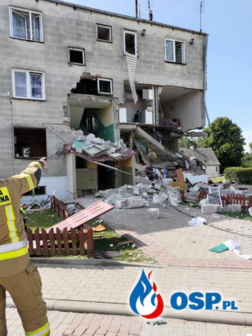 Wybuch butli z gazem w miejscowości Safronka
