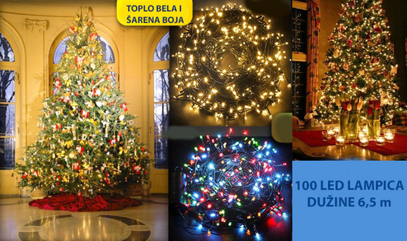 100 LED novogodišnjih lampica