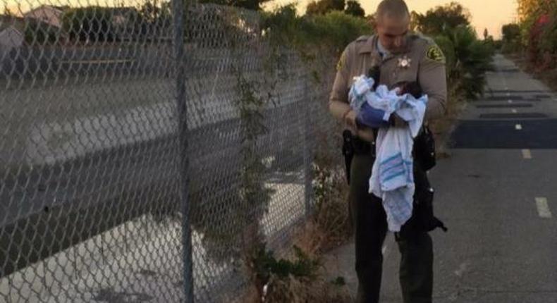 Newborn baby buried alive under road construction bitumen