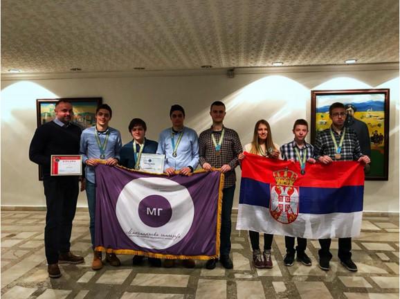Ekipa Matematičke gimnazije u Kazahstanu