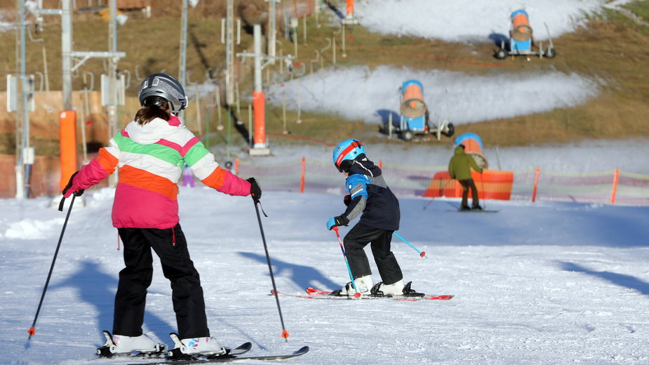 Pierwsi narciarze w Bukowinie Tatrzańskiej