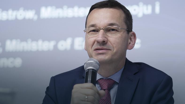 Mateusz Morawiecki podczas otwarcia nowej inwestycji IBM w Centrum ds. Bezpieczeństwa we Wrocławiu