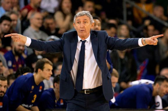 Trener Barselone Svetislav Pešić