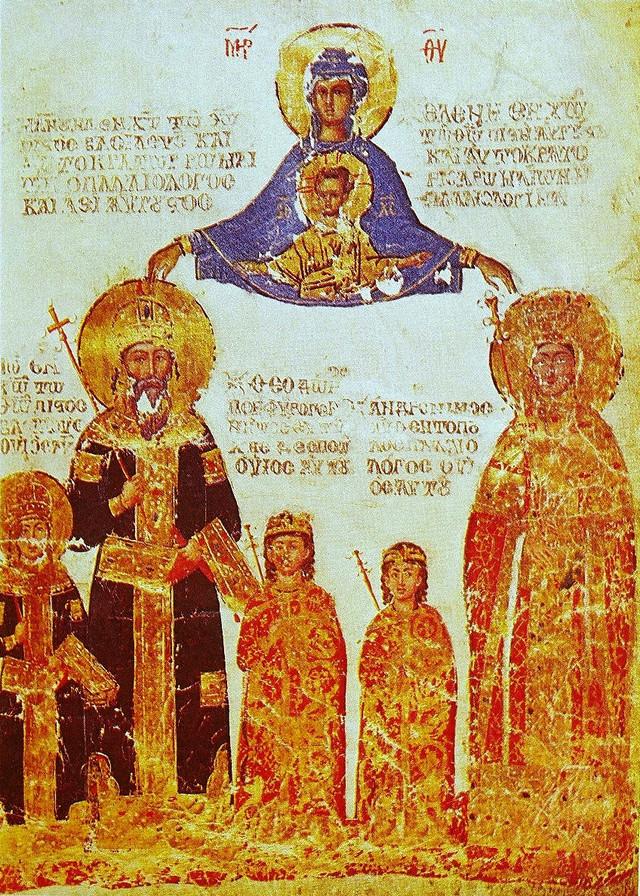 Ikona na kojoj je prikazan Manojlo II Paleolog, carica Helena i trojica njihovih sinova Jovan VIII, Teodor i Andronik