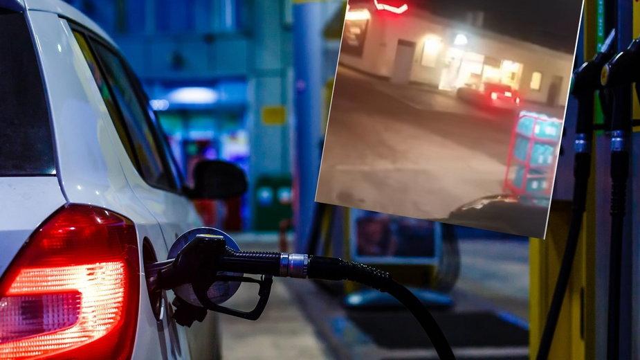 Strzały na stacji benzynowej. Kobieta zdemolowała sklep, reakcja policjantów