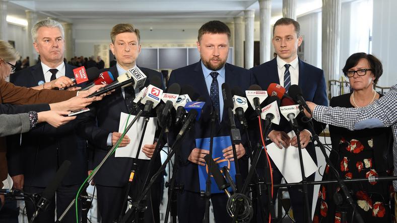 Cezary Grabarczyk, Mariusz Witczak, Marcin Kierwiński, Cezary Tomczyk i Joanna Kluzik-Rostkowska