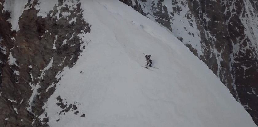 Tak Andrzej Bargiel zjeżdżał z K2. To nagranie mrozi krew w żyłach!