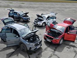 Japonia i Korea na starcie: Honda CR-V, Hyundai Tucson, Mazda CX-5 i Subaru Forester