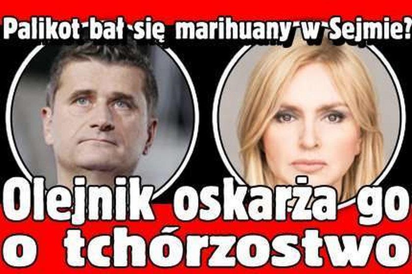 Palikot bał się marihuany w Sejmie? Olejnik oskarża go o tchórzostwo
