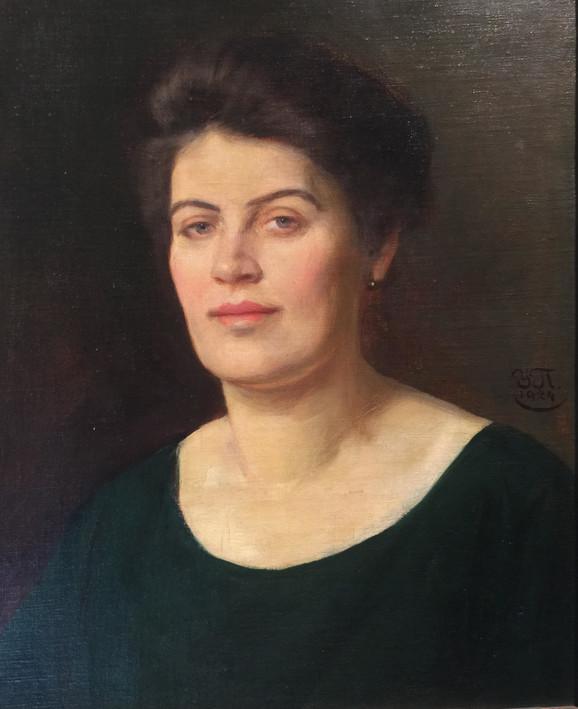 Uroš Predić, Vuka Velimirović, 1924, ulje na platnu, SANU