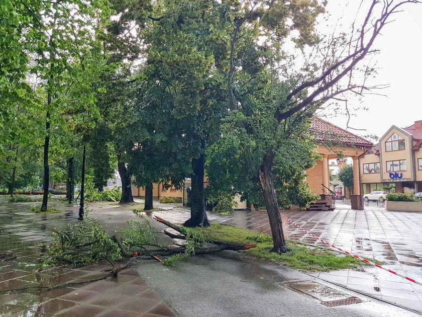 Burza w Aleksandrowie Łódzkim. Ludzie nie słuchali ostrzeżeń