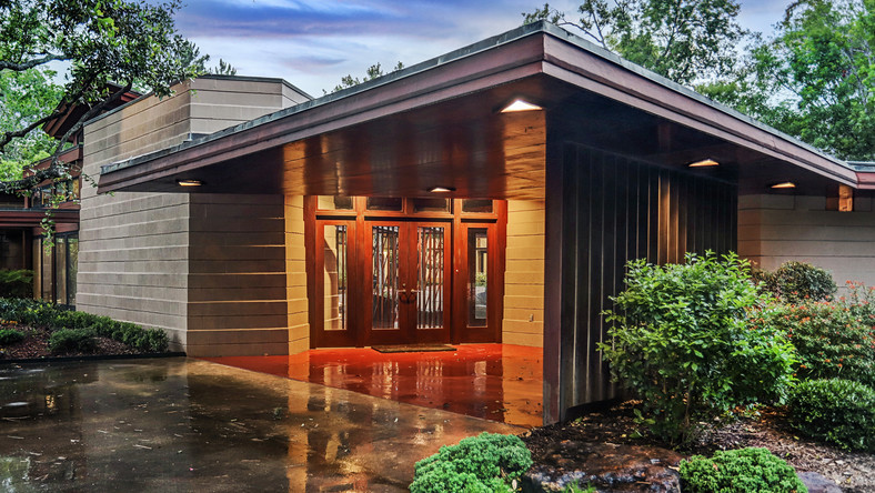 Frank Lloyd Wright's Usonian-style home in Houston is for sale for $2.85 million. The house is one of only three Wright-designed homes in Texas.