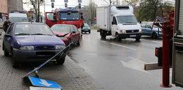 Wypadek na skrzyżowaniu Drewnowska/Zachodnia