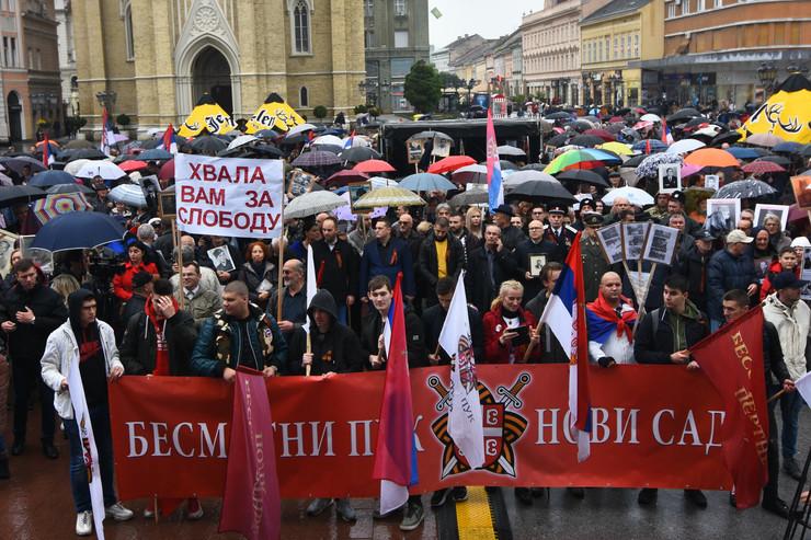 Novi Sad1087 setnja besmrtni puk dan pobede nad fasizmom foto Nenad Mihajlovic