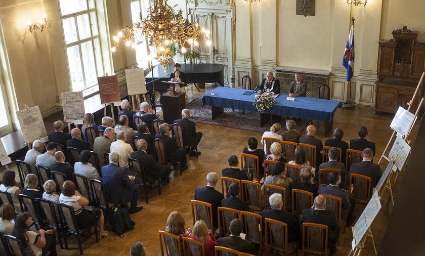 Uroczysta sesja Rady Miasta Krakowa