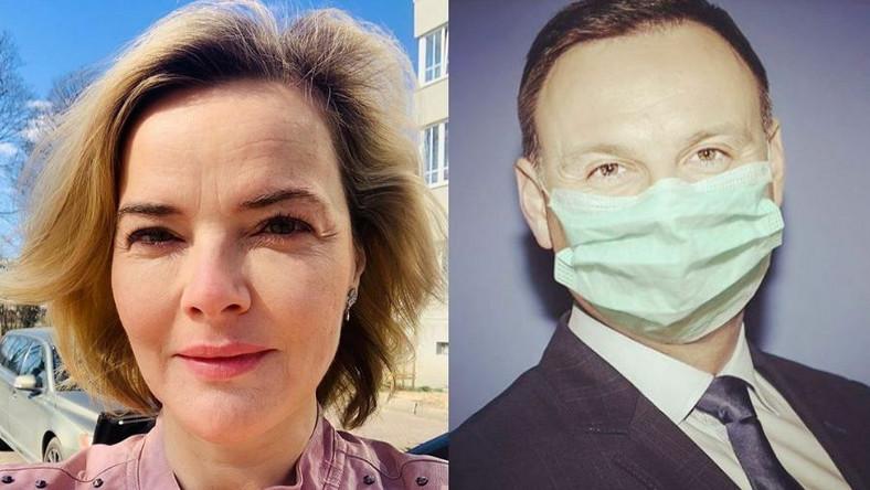 Monika Zamachowska, Andrzej Duda