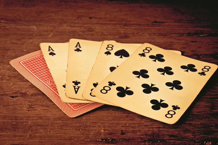 dead man hand, poker cards supposedly held by Wild Bill Hickok at moment of his assassination