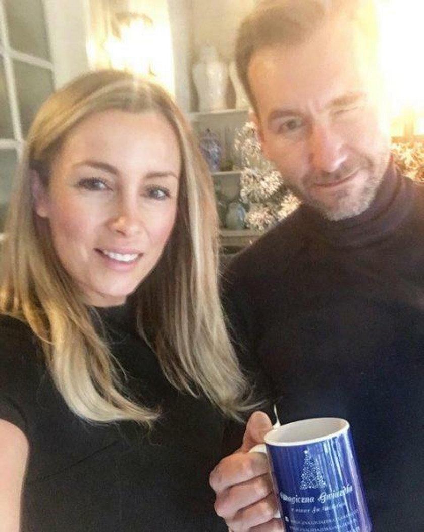 Karolina Ferenstein-Kraśko z mężem