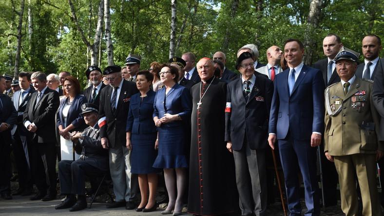Uroczystości 71 rocznicy Powstania Warszawskiego przy pomniku Gloria Victis
