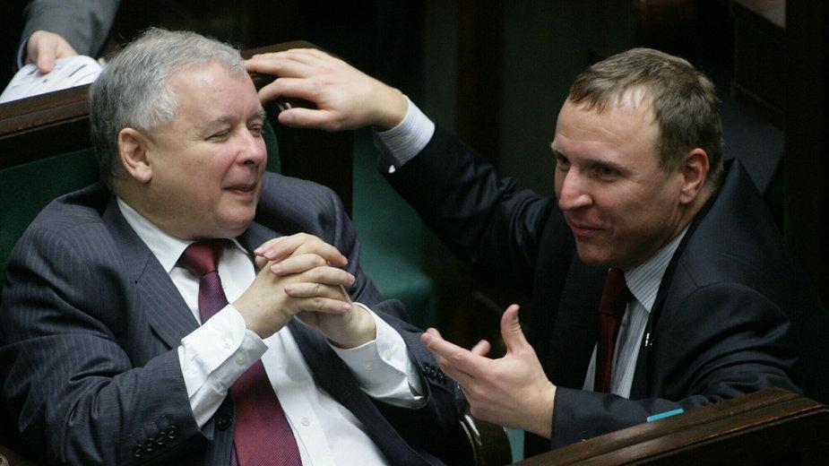 Jarosław Kaczyński i Jacek Kurski (2008 r.)