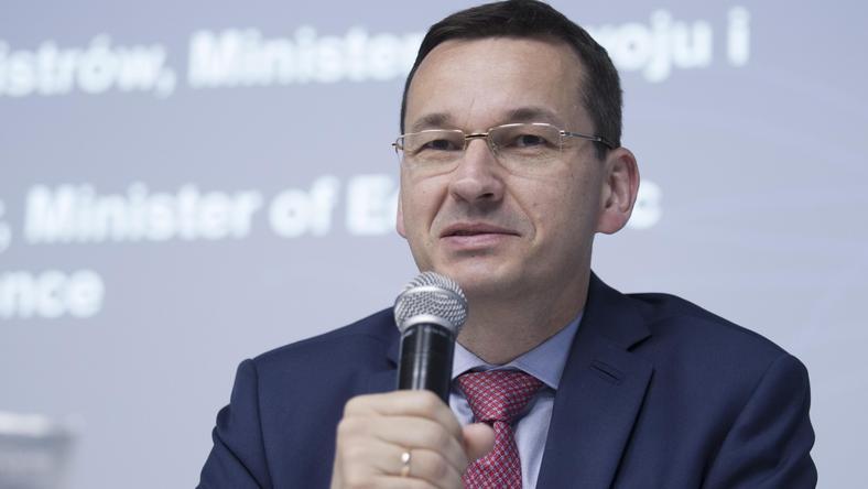 Wicepremier Mateusz Morawiecki podczas otwarcia centrum we Wrocławiu