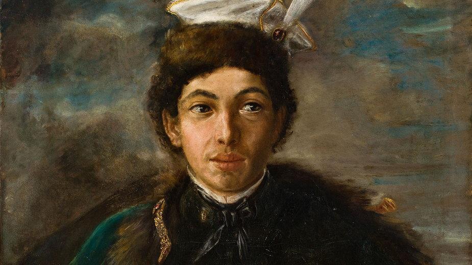 """Maurycy Gottlieb, """"Autoportret w stroju polskiego szlachcica""""."""