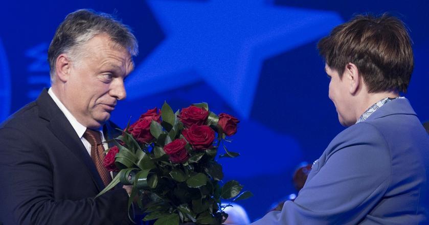 Premier Beata Szydło i premier Węgier Victor Orbán podczas XXVI Forum Ekonomicznego w Krynicy