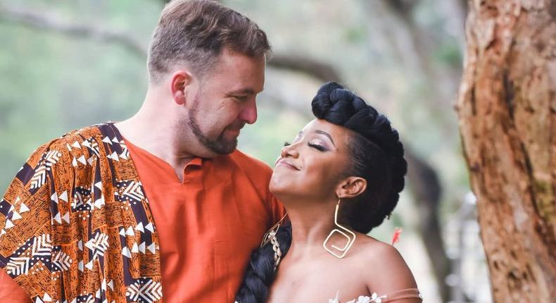 Anita Nderu and her fiancé Barrett Raftery.