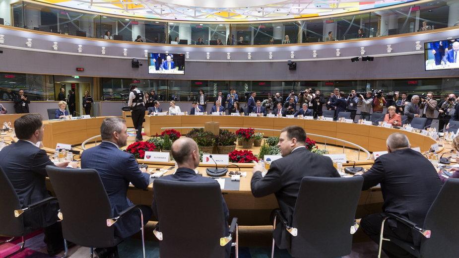 Szczyt przywódców Unii Europejskiej  - grudzień 2019 r.