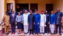 Gov Ifeanyi Okowa swears-in 8 new Special Advisers at the Government House, Asaba, on Tuesday, July 27, 2021.