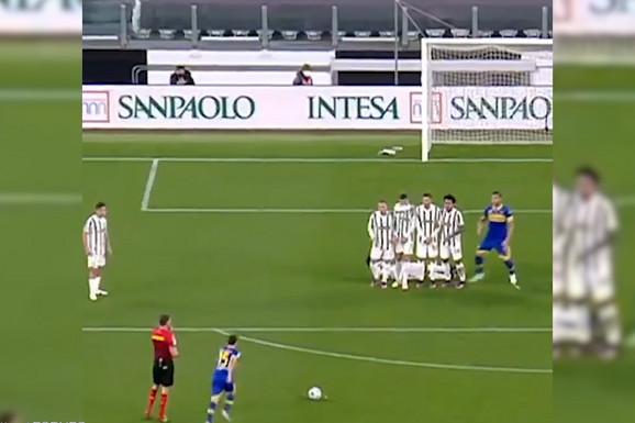 ŠTA TO URADI KRISTIJANO? Jednim potezom u živom zidu Ronaldo izazvao bes svojih navijača /VIDEO/